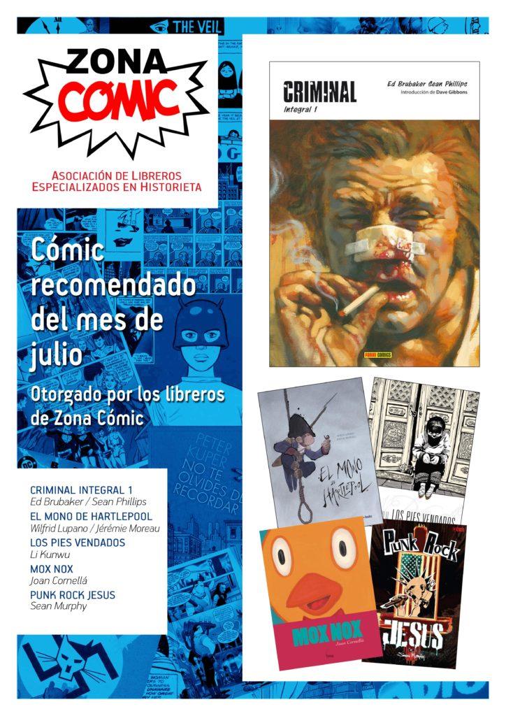 poster ZONACOMIC JULIO