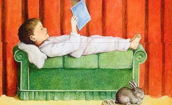 niño leyendo. castán
