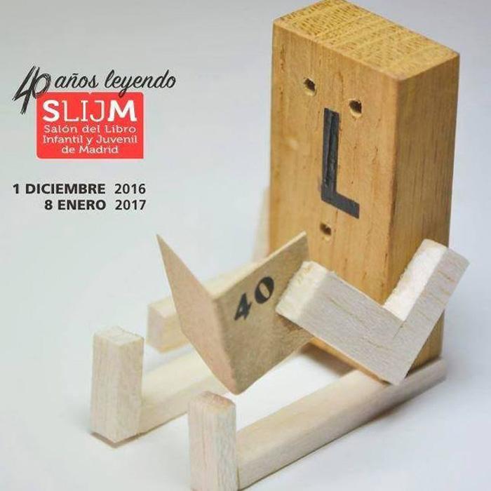 Cartel del XL Salón del Libro Infantil y Juvenil de Madrid, de Juan Vidaurre.