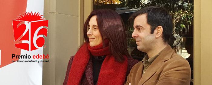 David Lozano y Beatriz Oses premio edebe 2018 pw