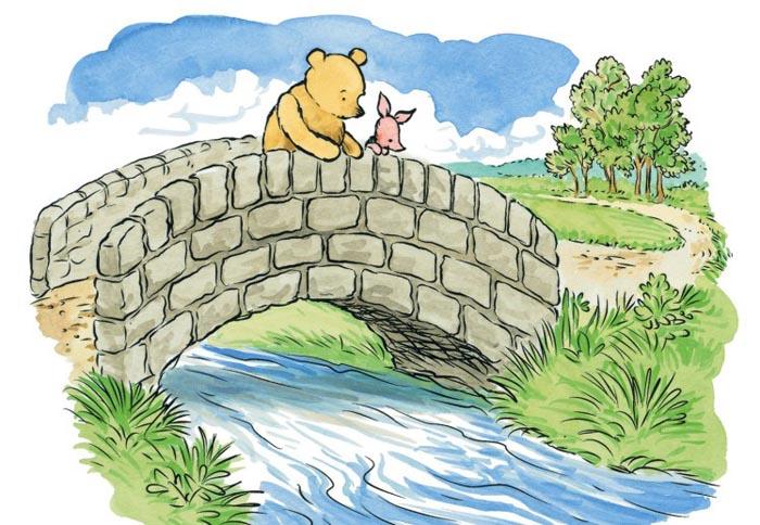 winnie the pooh Puente de los Poohsticks