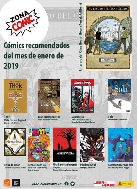 cómics del mes de enero 2019 pw