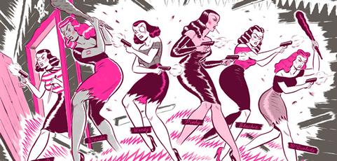 """""""El club de las chicas malas"""" de Ryan Heshka"""