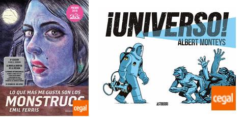 """""""Universo"""" y """"Lo que más me gusta son los monstruos"""", Premios del festival Celsius 232, edición 2019"""