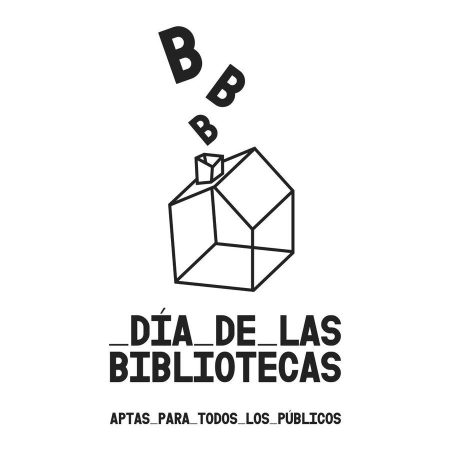 día de las bibliotecas logo blanco