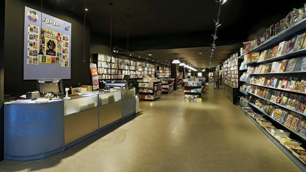 librería joker interior