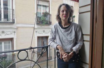 Marta Sanz, en Madrid, 11 de mayo de 2020. (Fotografía de Juan Marqués)